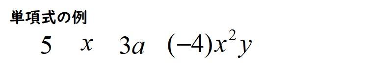 単項式の例