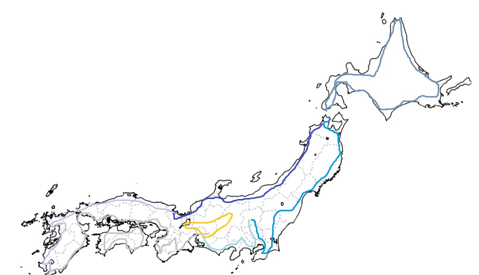 日本一周のルート