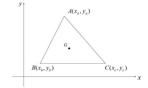 三角形の重心の座標公式