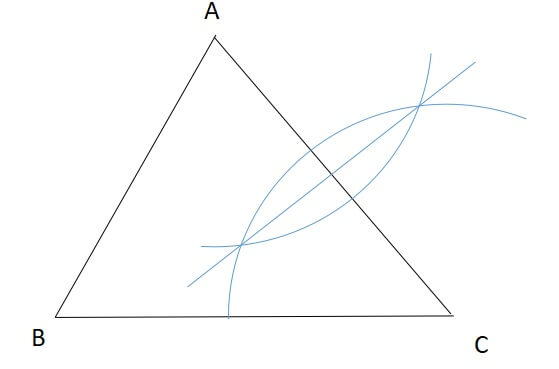 三角形の外心の見つけ方